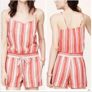 loft | beachy red and white striped romper